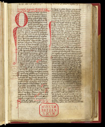 Decorated Initial, In A Volume Of Theological Treatises And Martin of Troppau's 'Chronicle Of Popes And Emperors'